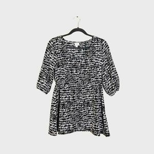 MERONA Abstract Pattern Half Sleeve Blouse